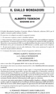 Bando Premio Tedeschi 2019