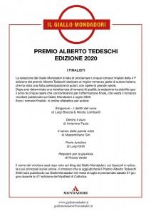 Finalisti del Premio Tedeschi 2020