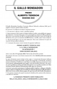 Bando Premio Tedeschi 2022