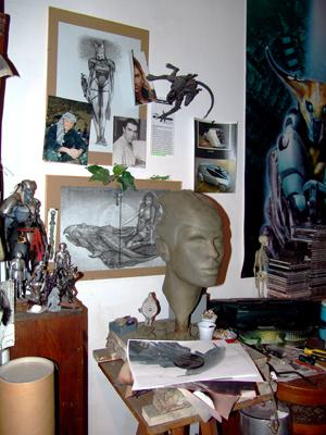 un angolo dello studio di Victor