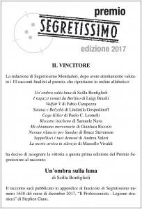 Vincitore Premio Segretissimo 2017 2