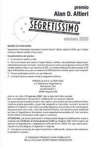 Bando Premio Altieri 2020