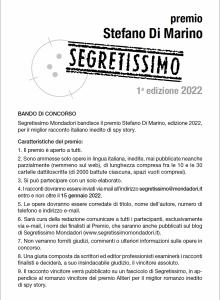 Bando Premio Di Marino 2022
