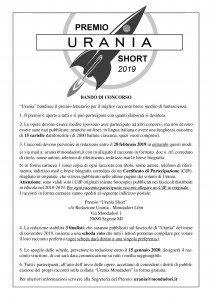 Bando Premio Urania Short 2019