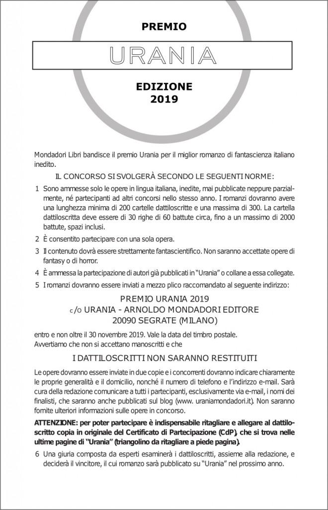 Premio Urania 2019