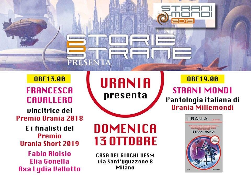 Gli incontri organizzati da Urania a Stranimondi 2019