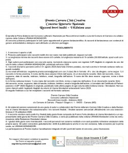 Premio Carrara Città Creativa 2020