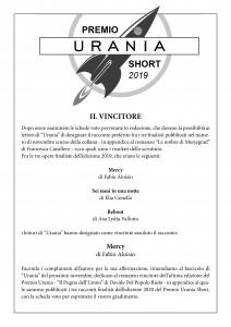 Vincitore Premio Urania Short 2019