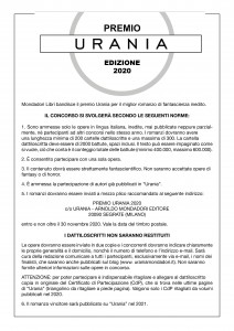 Bando Premio Urania 2020