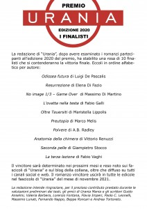 Finalisti Premio Urania 2020