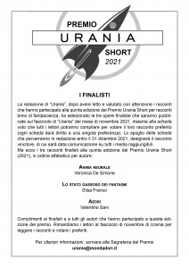 Finalisti Premio Urania Short 2021