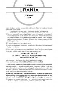 Premio Urania 2021