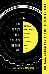 la cover originale della The Year's Best Science Fiction: The Saga Anthology of SF 2020